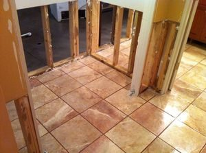 Water damage Beltsville flooded floor