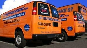 water damage restoration upper marlboro truck