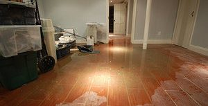 Flooded Living Room After A Storm Surge