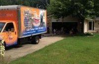 Hurricane Damage Truck At Residential Job Site