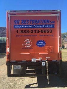 Water Damage Restoration Van