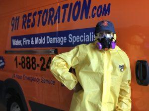 hazmat-suit-911-restoration-water-damage-van